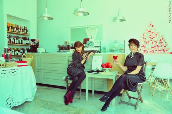 Berta Jones y Carola Vintage brindan en La Tienda de Lala por un excelente 2013 para todos!