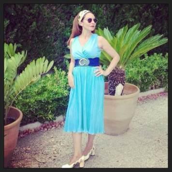tienda vintage online vestido azul
