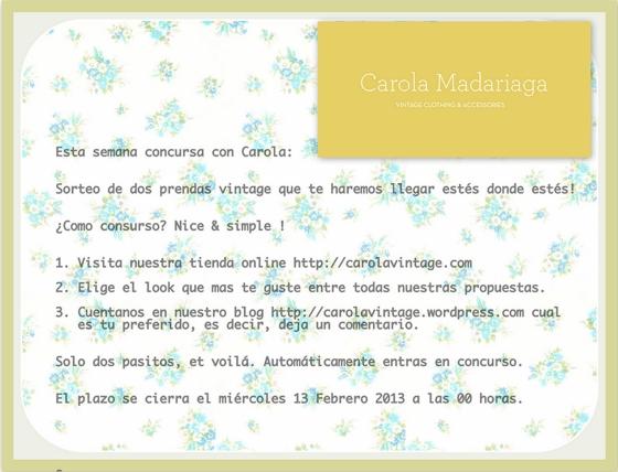 Carola Vintage concurso