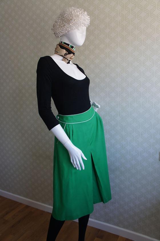 carola vintage falda verde