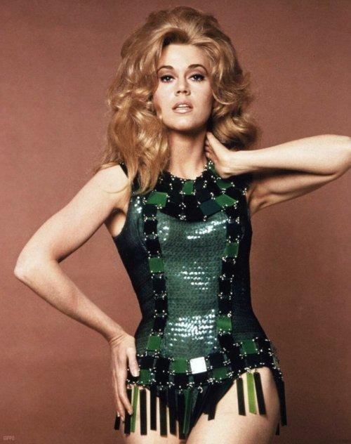 """Verde Galáctico para Jane Fonda en el film """"Barbarella"""""""