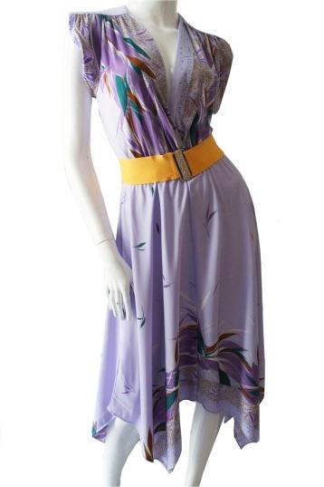 vestido vintage lila b